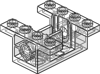 LEGO TECHNIC OldGray gearbox 6585 sets 8286 8230 8456