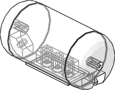 LEGO-TECHNIC Pneumatic  Airtank 67c01