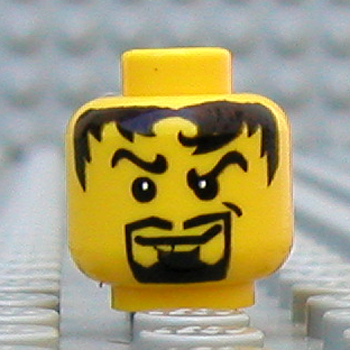 LEGO Alien Blue Face w// White Eyes /& Lightning Bolts on Forehead Minifig Head