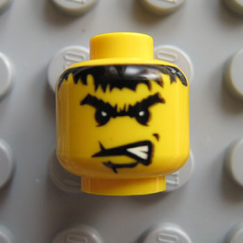 LEGO Minifig - Tan Head w// Red Eyes /& Stitched Mouth Pattern Scarecrow