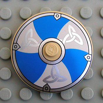 Sets That Have 3960px20 Round Dish 4 X Inverted With Viking Blue And White Shield Pattern