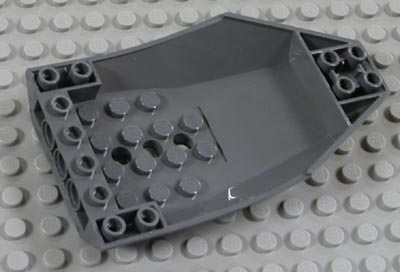 Lego 47406 Cockpit 10 x 6 x 2 Curved White