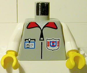 LEGO Arctic Torso Body Part with Blue Minifigure Arms and A1 Pattern