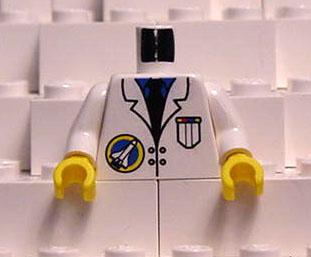 Lego 4 New White Torso Minifigure Lab Coat Stethoscope Purple Shirt Green Tie