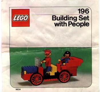 ron: LEGO Building Set with People {Antique Car} (#196-1) on