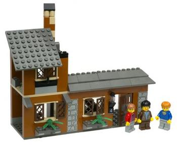 LEGO HARRY POTTER 1x1 BLACK WITH 4 PATTERN ESCAPE FROM PRIVET DR SET 4728 1