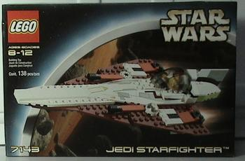 LEGO 3037px5 @@ Slope 45 2 x 4 with Jedi Starfighter Left Pattern @@ 7143